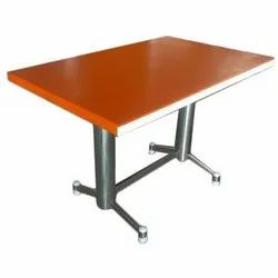 Nancy Rectangular Stainless Steel Dining Table, Size: Approx 4x2.5 Feet