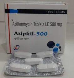 Aziphil 500mg Azithromycin Tablets
