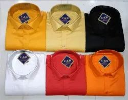 Cotton Full Sleeves Plain Shirts, Size: 38-42