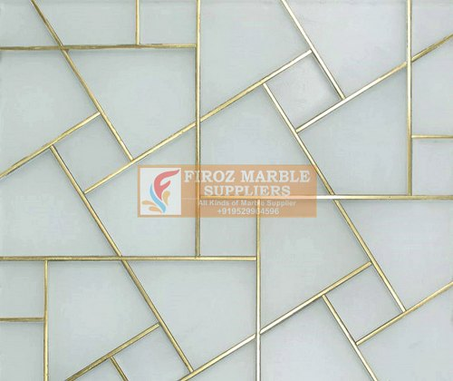 Polished Brass Marble Flooring Manufacturer, Thickness: 15-20 mm, We Take Above 4000 Square Feet