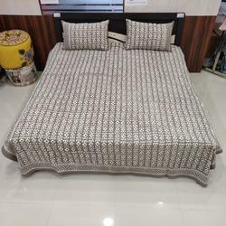 Traditional Hand Block Printed Bedsheet