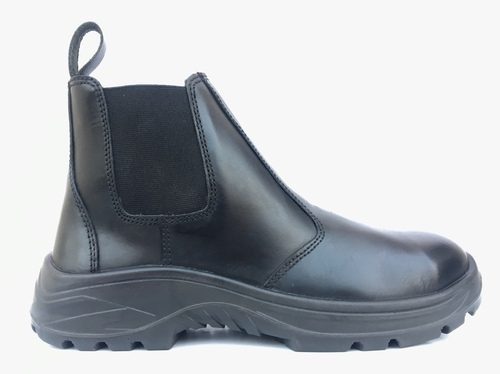 Black Leather Rodeo Safety Footwear, Size: 5-11