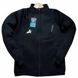 Plain Full Sleeves Mens Regular Fit Woollen Sweatshirt, Zipper, Size: S To Xxl