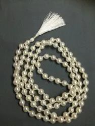 Freshwater Pearl Necklace Hand Knotted,Cultured Pearl Necklace, Rosary Japa Mala 108 1 beads