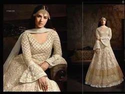 R 7601 Embroidery Ladies Anarkali Suit