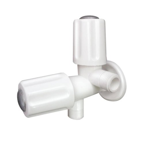 Plastic White PTMT 2 in 1 Angle Cock