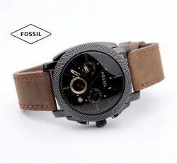 Round Fossil Analog Watch