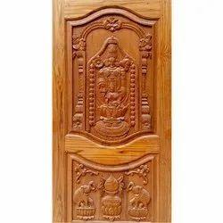 Brown Wood Carved Door