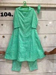 Cotton Kurti Pant Set, Gentle Wash, Size: S(38) To 5xl(50)