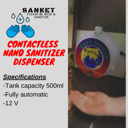 Contactless Nano Sanitizer Dispenser