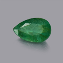 Green Emerald Pear Faceted Stone