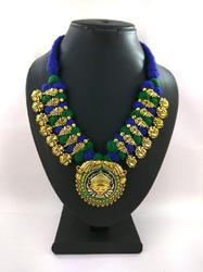 Gold Plated Meenakari Kolhapuri Thread Necklace