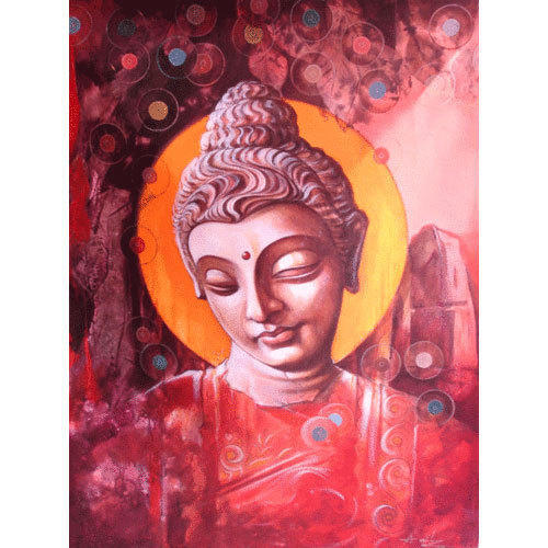 Buddha Acrylic Painting, Acrylic Painting - Art View Studio, New ...