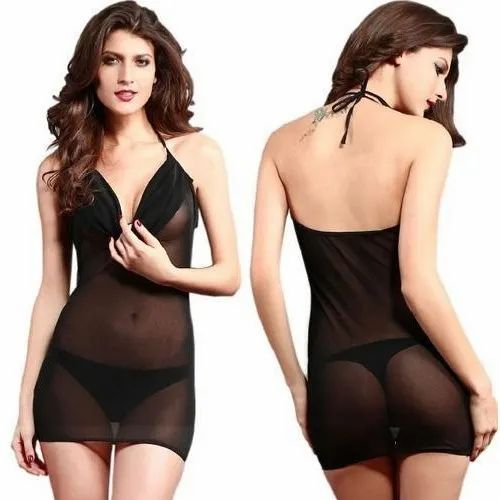 d0afe971fec5e Black Nylon Spandex Chemises Lingerie, Rs 190 /set, Rioe Business ...