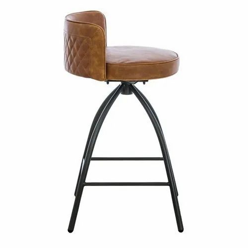Manisha Art Iron And Leather Bar Stool