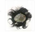 9x7 Inch Natural Human Hair Black