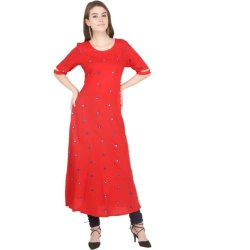 Western Red Party Wear Gowns