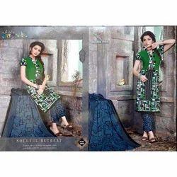 Printed Raas Garba Cotton Dress Material, GSM: 150-200