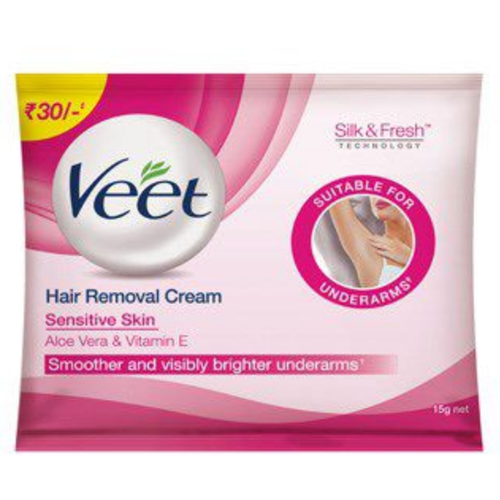 Veet Hair Removal Cream Underarm Pack Sensitive Touch Eyebrow