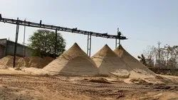 Silica Sand Stockpile of Construction Grade Sand