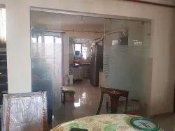 12mm Clear Tuff Glass Sliding Door, Size/Dimension: As Par Site