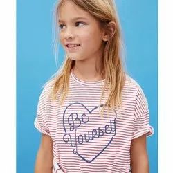 Round Neck Girls T Shirt