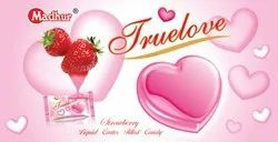 Heart Madhur True Love Candy Strawberry, Packaging Type: Packet