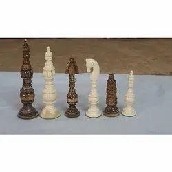 Camel Bone Tower Chess Set