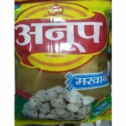 Anoop Plain Makhana, Packaging Size: 250gm, Packaging Type: Packet