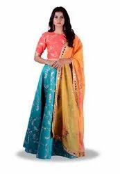 Pure Silk Designer Lehenga