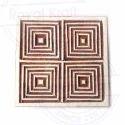 Brown Geometric Square Wood Print Block