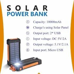 Solar Power Bank 10000 mAH With Torch