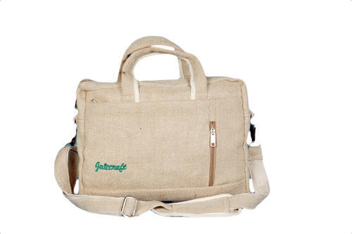 Brown Jute Craft Classic Laptop Bag Jute Craft Id 20083024988
