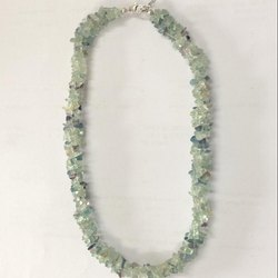Natural Fluorite Gemstone Chips Beads Jewelry with Sterling Silver Clasp