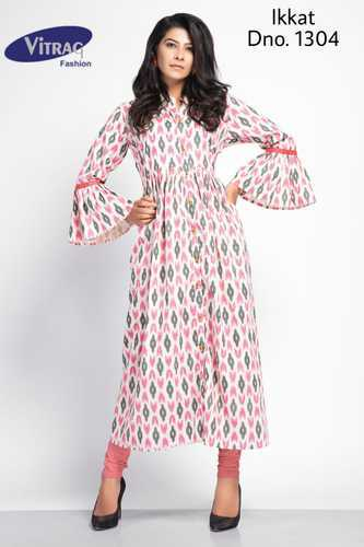 85dde7780602 Ikkat Print Semi-Stitched Kurti, Size: S, M & L, Rs 480 /piece | ID ...