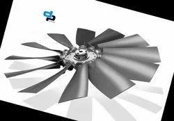 Aluminum Impeller 8 Blade Dia 315 mm