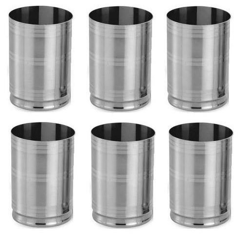 Stainless Steel Designer Steel Glass Set, Packaging Type: Corrugate Box ,Mirror Polish