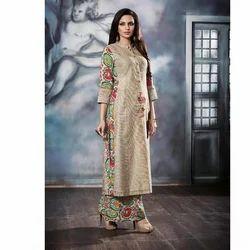 Ladies Silk Palazzo Suit