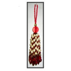 Pearl And Glass Beaded Tassels
