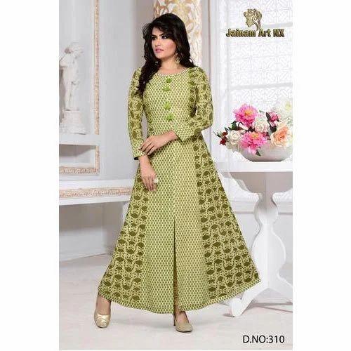 94f29baacc Designer Long Kurti, Size: M, L And XL, Rs 500 /piece, Jainam Art NX ...