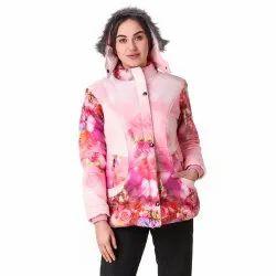 Pink Printed Woolen Jacket