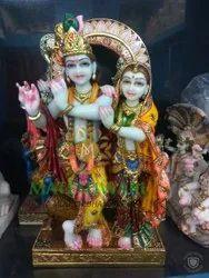 marble jugal radha krishna moorti