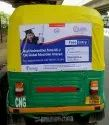 Outdoor Advertising Auto Rickshaw Sticker Branding, Mode Of Advertising: Offline