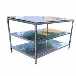 Silver Top Granite Bakery Table