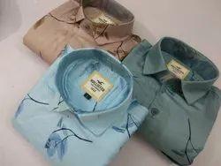 Collar Neck Mens Printed Shirts