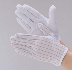 White ESD Dotted Gloves