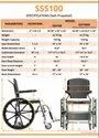 Shower & Commode Wheel Chair- SAS 100