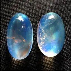 Rainbow Moonstone Oval Cabochon Gemstone