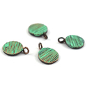 Round Disc Patina Charms