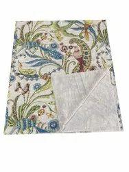 Cotton Kantha Gudari Bird Design Kantha Quilt